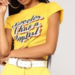 Cute Fashion Nova Crop Top